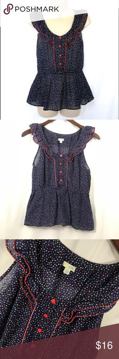 """Anthro Odille silk blend ruffle blouse top 6 Size 6 Bust- 36"""" Length from shoulder to hem- 23"""" Excellent condition Anthropologie Tops Blouses"""