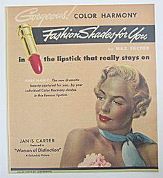 1950 Max Factor Color Harmony Lipstick W/ Woman