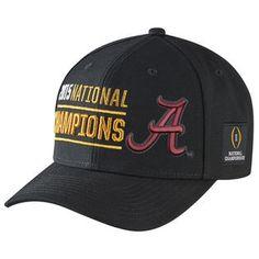 Alabama Crimson Tide Nike College Football Playoff 2015 National Champions Coaches Locker Room Performance Adjustable Hat - Black