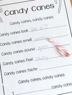 candy cane 5 senses poem: Freebie