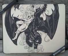 #75 How to Train Your Dragon by Picolo-kun Hiccup And Toothless, Httyd, Hiccup Dragon, Arte Alien, Art Folder, Dreamworks Animation, Sketch Inspiration, How To Train Your Dragon, Art Sketchbook