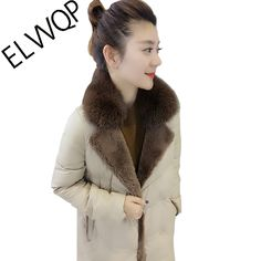 luxury 2018 New Fox Large Fur Collar Winter Jacket Women Coat Female Fashion European Style White Duck Down Parka >> Click picture for details << Winter Jackets Women, Coats For Women, Clothes For Women, Down Parka, Down Coat, European Style, European Fashion, Female Fashion, Womens Fashion