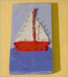 PUUKOT JA PUIKOT - Rysäntäydeltä käsityötaitoja Art For Kids, Crafts For Kids, Arts And Crafts, String Art, Art School, Carpentry, Woodworking, Creative, Painting