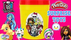 Monster High Giant Play Doh Can Surprise Toys Surprise Egg and Toy Colle...