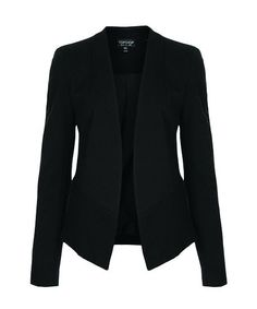 Best Affordable Black Blazers - Topshop Clothes   A black blazer is a wardrobe staple and the Topshop slim fit version is the best that money can buy, according to math. #refinery29 http://www.refinery29.com/2014/03/65428/best-affordable-black-blazer