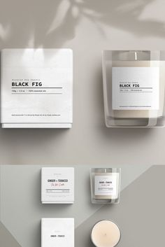 Candle Label Pack is a set of well-crafted printable label templates perfect for the handmade cosmetics brands, hand crafters or other creative businesses. Candle Branding, Candle Packaging, Candle Labels, Jar Labels, Candle Logo, Candle Making Business, Label Design, Booklet Design, Design Design
