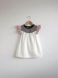 girls' cotton dress with geo print detail by swallowsreturn