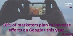 18% of marketers plan to increase efforts on Google+ this year