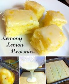 Now You Can Pin It!: Lemony Lemon Brownies