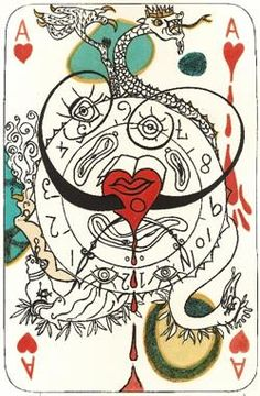 "Salvador Dali, Spanish 1904-1989- ""Playing Cards"""