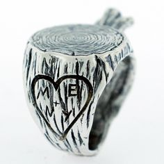 Stump ring by Digby & Iona. Customizable with your own initials