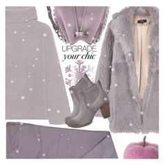 """LET IT SNOW! COZY CHIC//CHELSEA BOOTS"" by shoaleh-nia ❤ liked on Polyvore featuring TIBI, 360 Sweater, Zadig & Voltaire, Rebecca Minkoff and UGG"