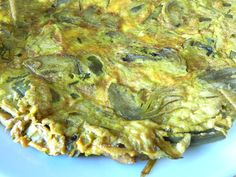 You can make this easy Italian frittata with the fresh, tiny artichokes that arrive with spring or, more quickly, with frozen artichoke hearts. Fresh Artichoke Recipe, Artichoke Recipes, Italian Dishes, Italian Recipes, Savoury Dishes, Food Dishes, Egg Recipes, Cooking Recipes, Cooking