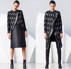 Neil Barrett 2014-2015 Fall Autumn Winter Womens Lookbook Presentation - Paris Fashion Week Prêt à Porter Défilés - Flash Lightning Bolt Outerwear Coat Bomber Jacket Waffle Quilted Skirt Frock Leather Crop Top Midriff Hoodie Ruffles Dots Puffer Down Jacket Handkerchief Hem Ombre Motorcycle Biker Sweatpants Spaghetti Noodle Strap Sweaterdress