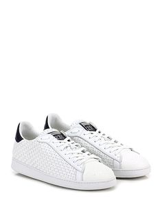 BRIMARTS - Sneakers - Uomo - Sneaker in pelle intrecciata e pelle con puntale lavorato e suola in gomma. Tacco 30, platform 20 con battuta 10. - BIANCO - € 172.00
