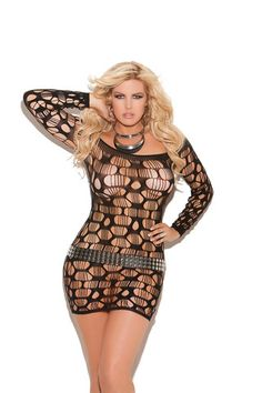 Sexy Ripped Mini Dress – Lace Your Curves