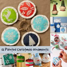 12 painted Christmas ornaments you'll HAVE to make - these are so creative!