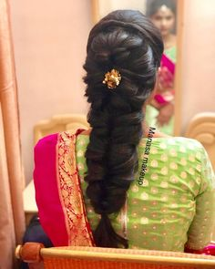 10 Hair and Makeup Looks You Need To Check Out Before Your Wedding! Bridal Hairstyle Indian Wedding, Bridal Hair Buns, Bridal Hairdo, Hairdo Wedding, Long Hair Wedding Styles, Indian Bridal Hairstyles, Braided Hairstyles For Wedding, Saree Hairstyles, Bride Hairstyles