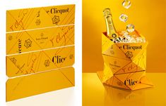 Yellow Circuit  Veuve Cliquot paints Milan yellow with an origami bucket, a mobile shop and more