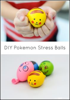 Easy DIY Pokemon inspired stress balls for kids from And Next Comes L