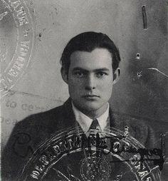 Ernest Hemingway's passport photo, 1920s