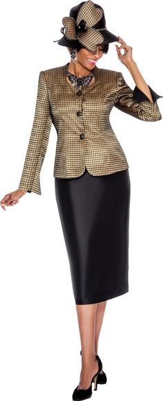 7488 TERRAMINA 2PC  POLYESTER SKIRT SUIT ON SALE #SkirtSuit