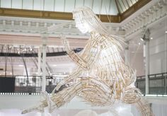 Artist Ai Weiwei has used traditional Chinese kite-making techniques to create sculptures at Paris department store Le Bon Marché