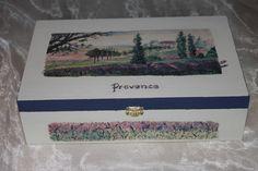 Schöne Teebox im Provence/ Lavendel Stil von Die Sandfrau auf DaWanda.com