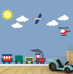 Airplane Train Wall Decal - For Tank?
