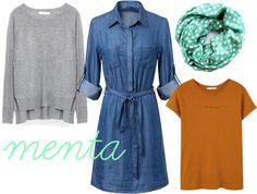 menta Shirt Dress, Shirts, Dresses, Fashion, Mint, Dress, Vestidos, Moda, Shirtdress