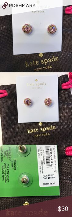 KS Light Pink Earrings. NWT Brand new. Pink with gold hardware. Comes with dust bag. kate spade Jewelry Earrings