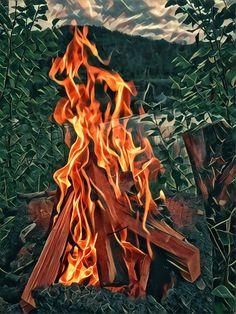 @nitramnessnah: Bonfire by the lake