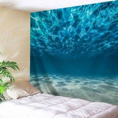 Underwater Polyester Throw Wall Tapestry - BAYSIDE