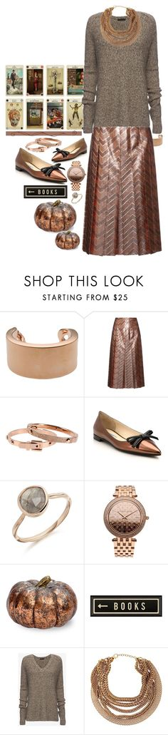 """""""Rose Gold & Copper."""" by s-elle ❤ liked on Polyvore featuring Maison Margiela, Gucci, Michael Kors, Prada, Spicher and Company, ATM by Anthony Thomas Melillo, Roberto Cavalli and rosegold"""