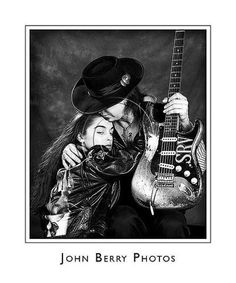 Janna Lapidus and Stevie Ray Vaughan