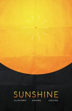 "A pithy minimalist poster for ""Sunshine"" by Peter Lawrence"