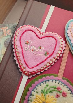 Embroidered felt bookmarks learn how to make them at craft blogger Simply The Sweet Life.
