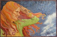 Windblown by Maria Elkins - This would be my FAVORITE quilt of all I saw at the International Quilt Festival Cincinnati.  A true inspiration!