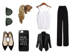 """A normal work day"" by moustachedino1 on Polyvore featuring Rochas, Jupe de Abby, Spitfire and Jimmy Choo"
