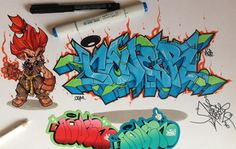 DeviantArt is the world's largest online social community for artists and art enthusiasts, allowing people to connect through the creation and sharing of art. Graffiti Designs, Graffiti Piece, Graffiti Wall Art, Graffiti Drawing, Graffiti Lettering, Street Art Graffiti, Graffiti Wildstyle, Dope Art, Street Artists
