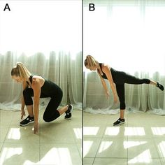 This deep lunge and balance combo helps tighten the backs of thighs in no time.