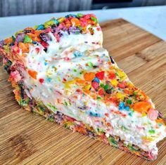 Fruity Pebbles Cheesecake Recipe Champions is part of Fruity pebble cheesecake - Yummy Treats, Sweet Treats, Yummy Food, Fruity Pebble Cheesecake, Fruit Cheesecake, Cheesecake Cupcakes, Mini Cupcakes, Fruity Pebble Cupcakes, Birthday Cake Cheesecake