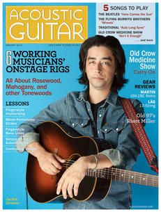 Acoustic Guitar January 2013 Cover feat. Jackie Greene Acoustic Guitar Magazine, Magazine Covers, January, Songs, Song Books