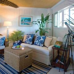 Tropical Living Room Design   I like the arrangement of the furniture not  right up againstThe ceiling of this Hawaiian living room features an interesting  . Tropical Living Room Design. Home Design Ideas