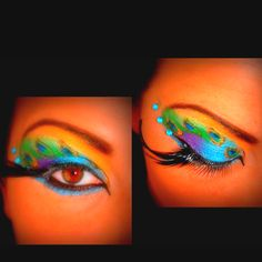 Peacock makeup -how cool!