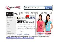 Shop at Yepme . Get discount coupons for sales offers at http://www.couponskart.net/yepme-coupons