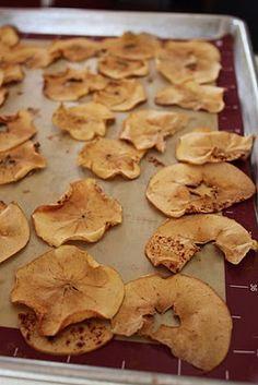 baked apple chips.