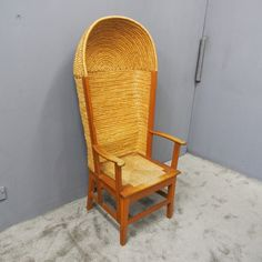 Antiques Atlas - Hooded Orkney Chair By D Kirkness Open Arms, Wicker, Hoods, Chairs, Antiques, Inspiration, Furniture, Google Search, Lady