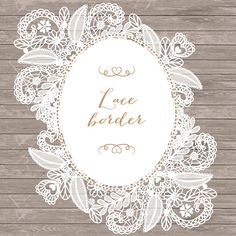Lace border rustic, Wedding invitation border, frame, lace clipart, white lace wedding invitation, shabby chic clipart, vintage lace, lace - 1 lace flower clipart 12x12 300dpi PNG files(white) - 1 lace with oval frame - 1 lace + frame 12x12 300dpi PNG files(white) - 3 linen