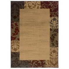 @Overstock - Accentuate your neutral decor with this 8'2 x 10' beige border area rug. With gold, green, and red detailing, this casual polypropylene rug is both durable and stain resistant, making it the perfect choice for rooms with lots of traffic.http://www.overstock.com/Home-Garden/Indoor-Beige-Border-Area-Rug-82-x-10/5543389/product.html?CID=214117 $161.99